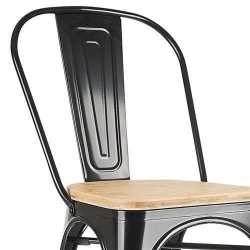 Replica Tolix Wooden Seat Dining Chair