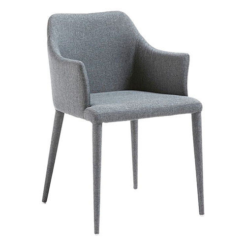 Luxury fabric dining chair