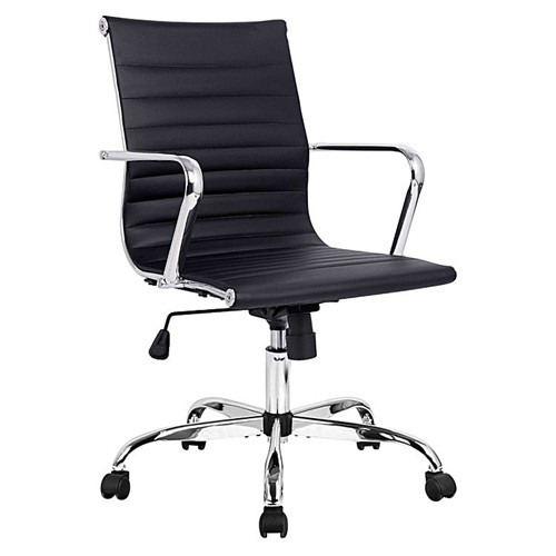 Replica Charles & Ray Eames PU Leather Executive Office Chair, Black