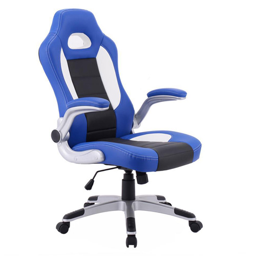 PU Leather Executive Racing Style Bucket Seat Chair Office Desk Chair