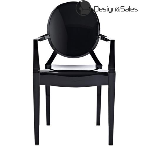 Luxury design ghost chair with armrest