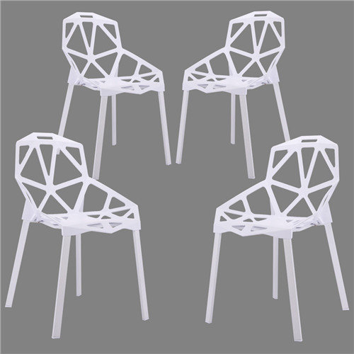 Hollow-Out Geometric Style Chair, Stack Chairs ,Modern Dining Chairs