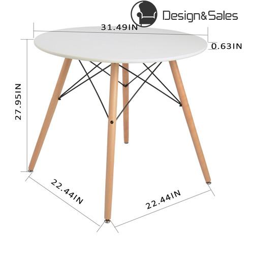 Kitchen Dining Table Round Coffee Table White Modern Leisure Wooden - Round pedestal conference table