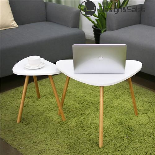 Coffee Table Nesting Coffee End Tables Modern Decor Side Table Occasional Triangle Stand for Living Room Set of 2 White