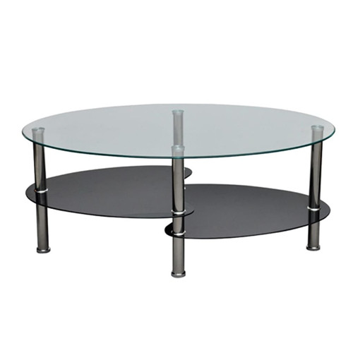 Modern High Gloss Glass Top Coffee Table Side Dinner Office
