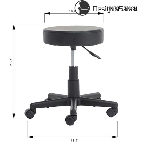 Rolling Work Shop Stool Medical Swivel Chair Adjustable Garage Seat Foot  Rest