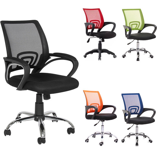 Ergonomic Midback Mesh Computer Meeting Office Chair Desk Task Adjustable Swivel