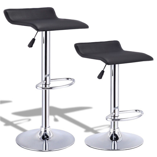 Adjustable Height PU Leather Backless Bar Dining Chair Seat Stools
