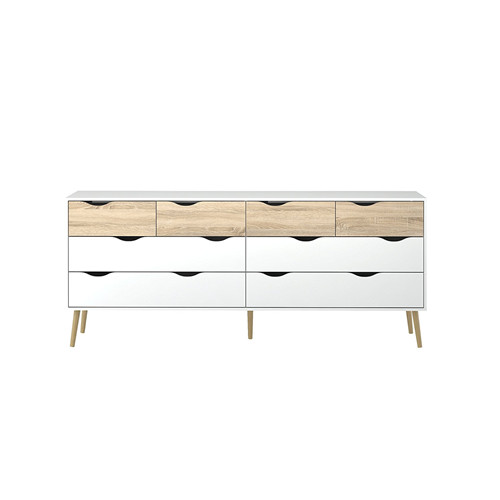 8 Drawer Dresser White Oak Structure