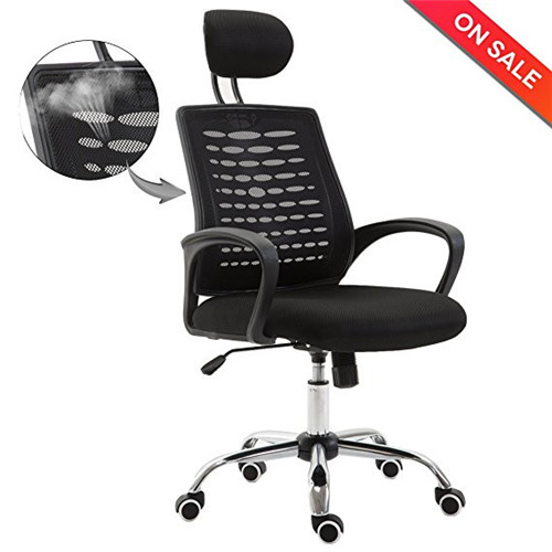 Ergonomic Office Chair Adjustable High-Back Mesh Task Executive Chair with Headrest Arm Rest