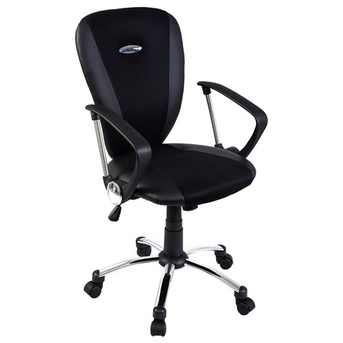 Modern Ergonomic Computer Task Executive Mid-Back Desk Office Chair Black