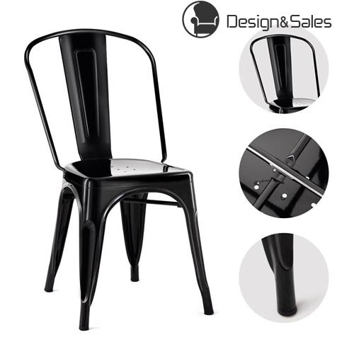 Tolix Style Dining Chair Stackable Bistro Chair