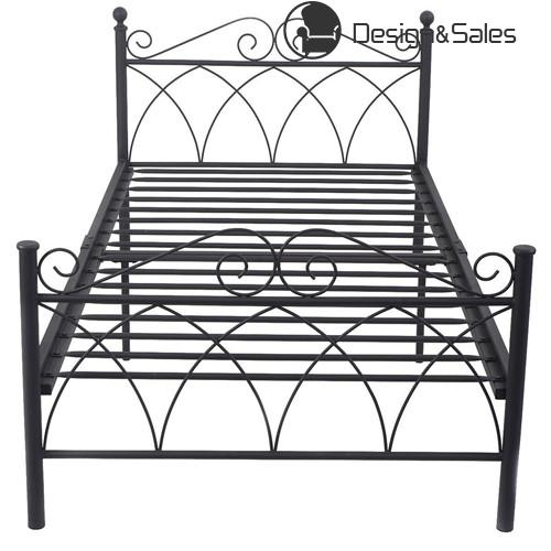Black Steel Twin Size Bed Frame