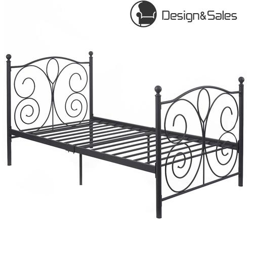 Black Twin Size Steel Bed Frame