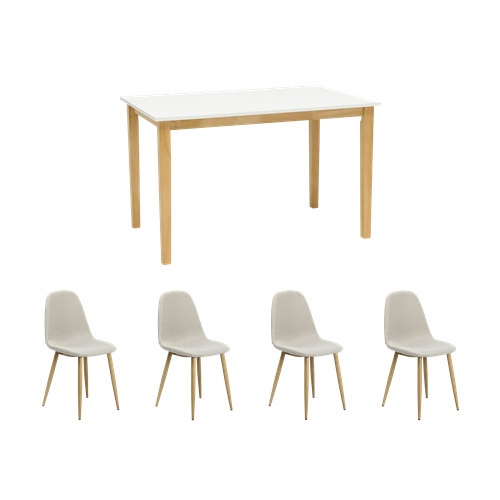 Dining Table with 4 Fynn Dining Chairs