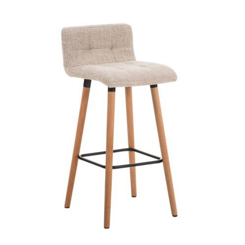 Bar Stool fabric seat wooden frame comfortable backrest footrest