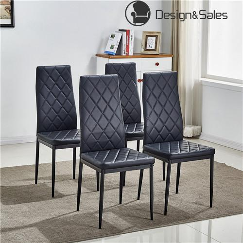 Comfortable Dining Room: Dining Chairs Comfortable Leather Dining Room Furniture Black