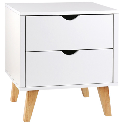 Wooden Bedside Table 2 Drawer