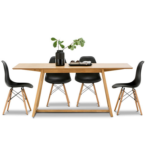 Dining Table & Eames Replica Chairs Set