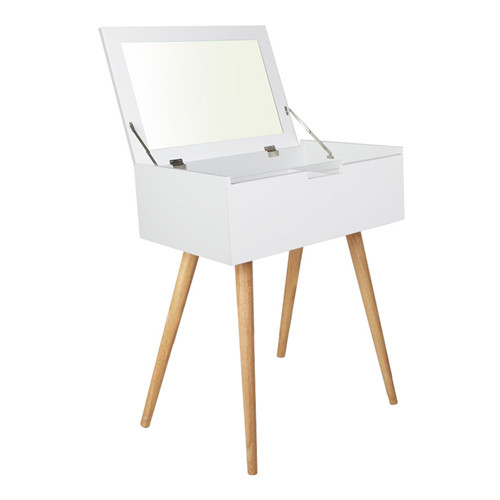 Scandi Dressing Table & Foldaway Mirror