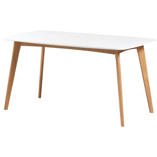 Wooden dining table square top white