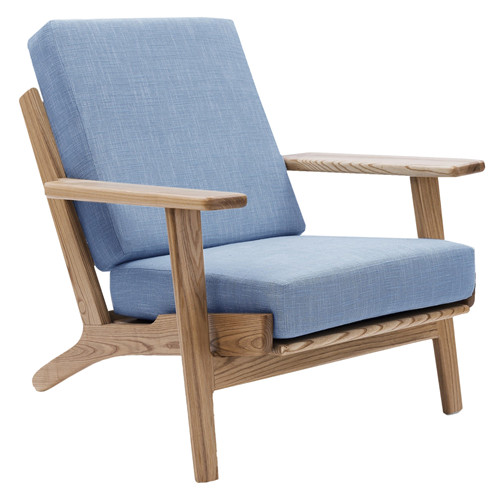 Light Blue Replica Hans Wegner Plank Armchair