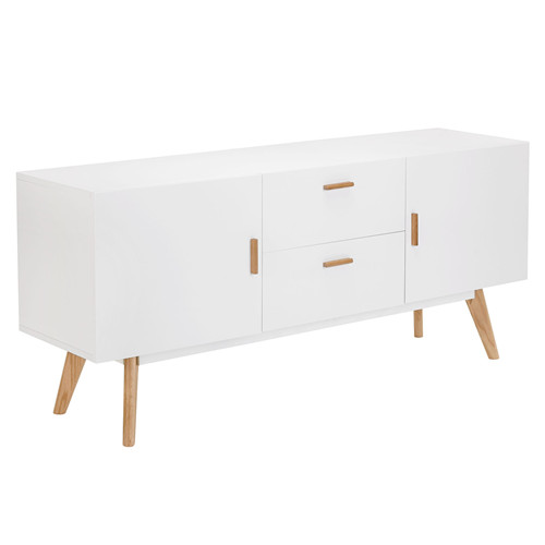 White 2 Drawer HIGDON Modern Sideboard