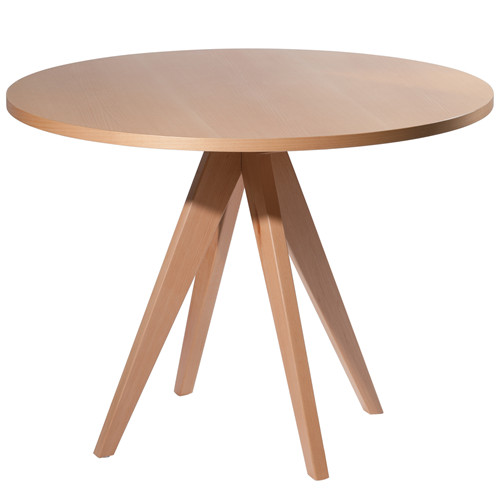 100cm Round Beech Wood Dining Table
