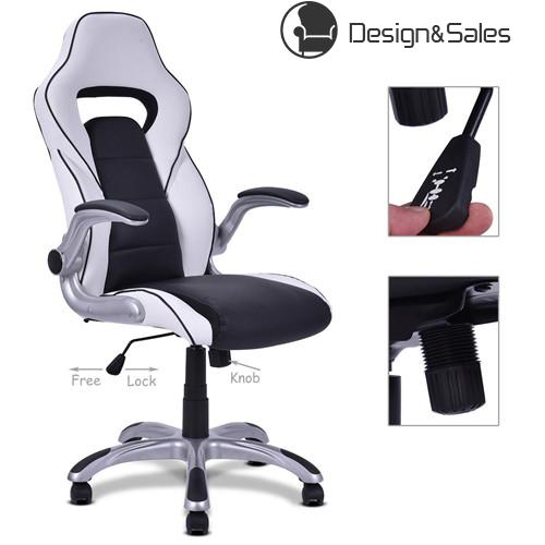 High Back Executive Racing Style Office Chair Gaming Chair Adjustable Armrest