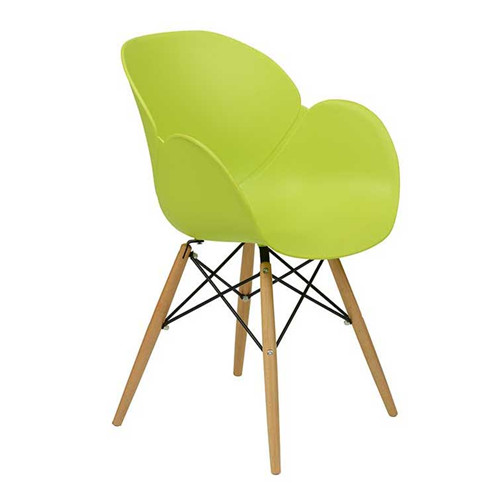 China Furniture Plastic Dining Chairs Green