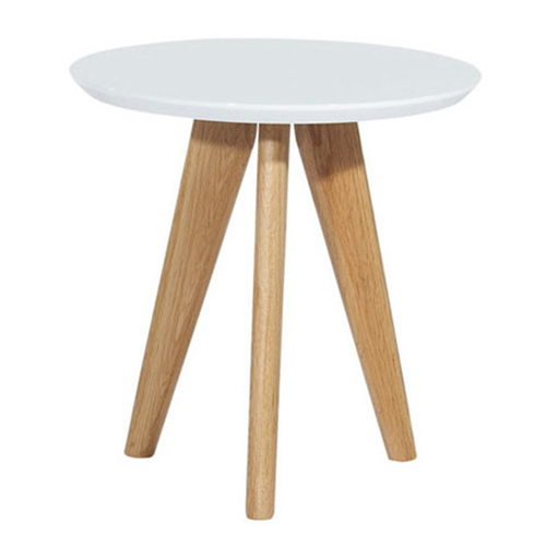 Small round top side coffee table