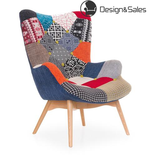 Patchwork Armchair Lounge Leisure Living Room Chair