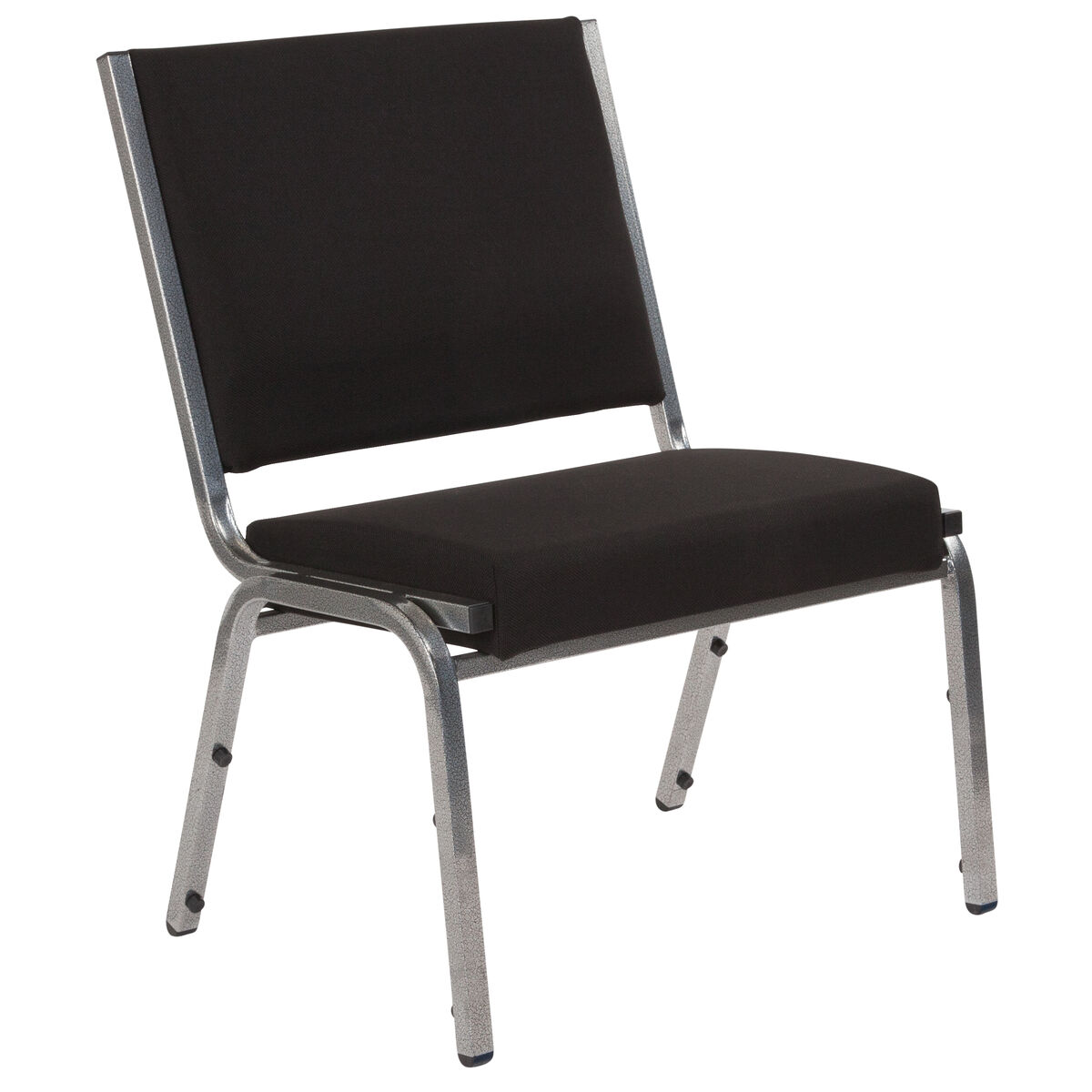 Black Antimicrobial Fabric Medical Reception Chair