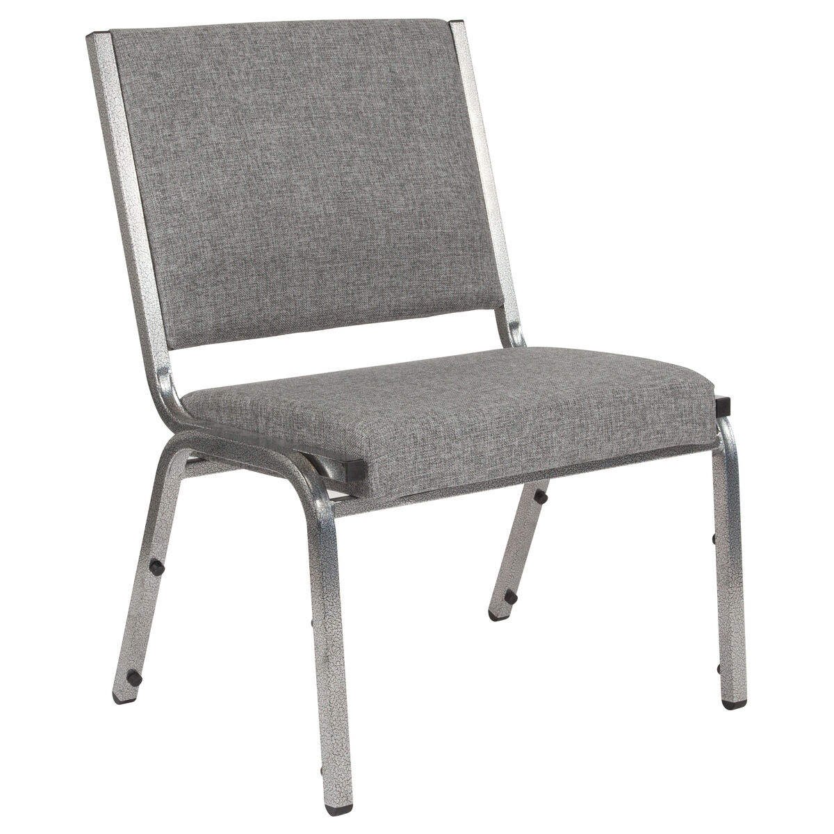 Gray Antimicrobial Fabric Medical Reception Chair