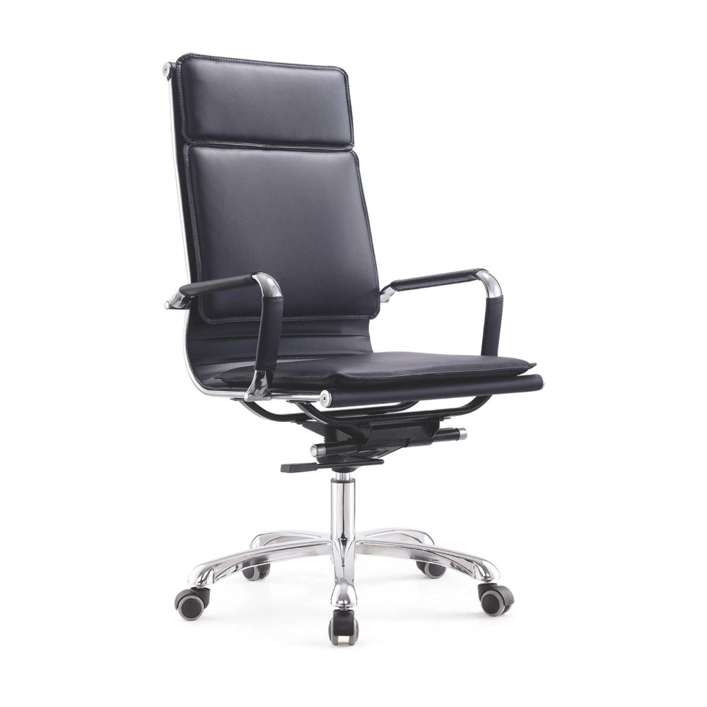 Pu Leather Adjustable Height Swivel Chair Office Furniture Black
