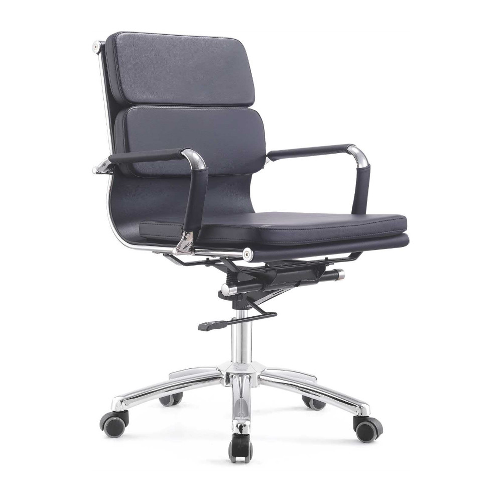 executive office computer chair bonded leather made in china mid back
