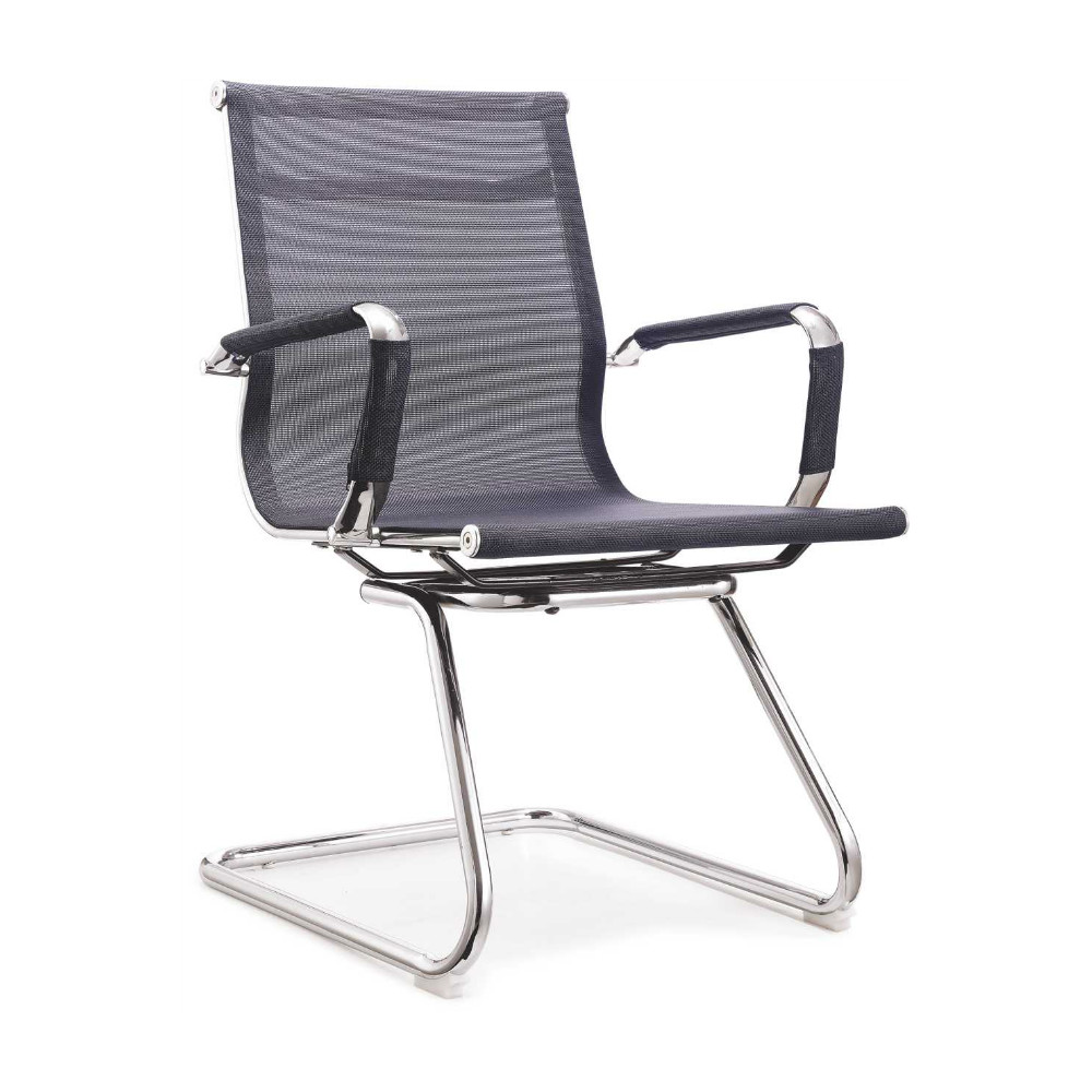 mid back net conference chair no wheels china design