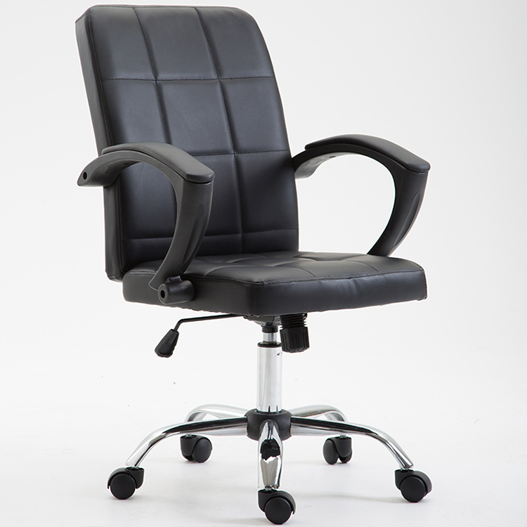 office chair bonded leather black made in china swivel
