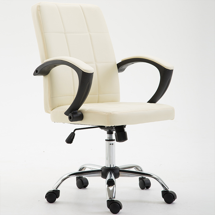 office chair bonded leather beige made in china swivel