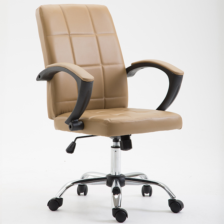 office chair bonded leather brown made in china swivel