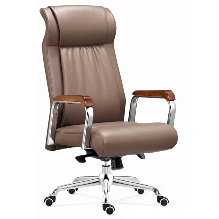 office chair luxury leather executive high back