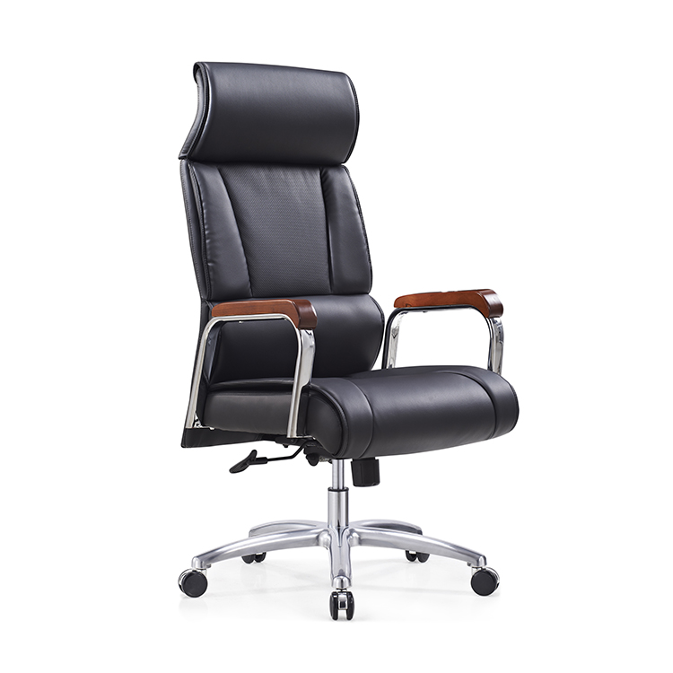 china office chairs bonded leather comfortable high back design black
