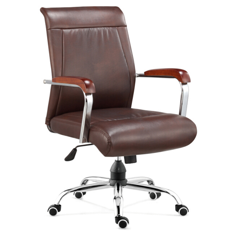 Modern Design Leather High Back Executive Office Chair With Wheels