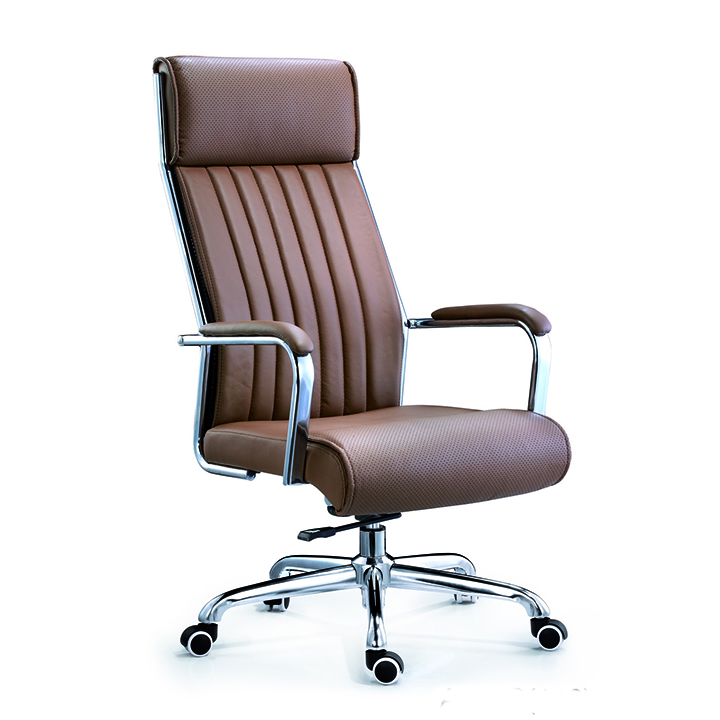 Boss manager revolving ergonomic executive brown leather funiture office chair