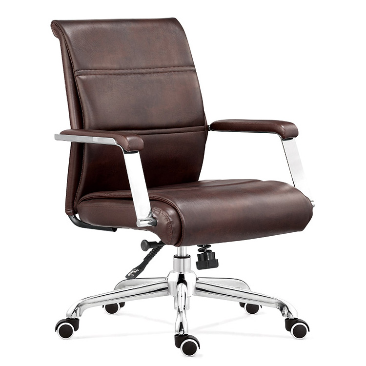 mid-back commercial leather office chair china design