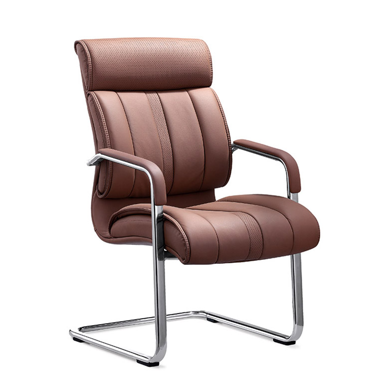 Comfortable visitor office chair PU leather computer desk chair