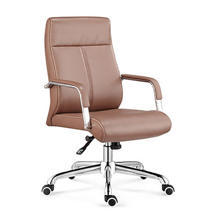 Office Chair Swivel Executive Chair bonded leather brown