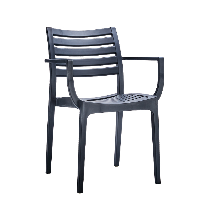 living room chair plastic black with armrest