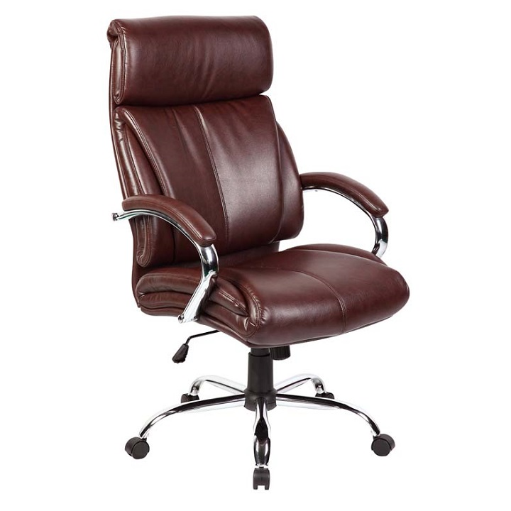 office manager chair brown bonded leather high back made in china