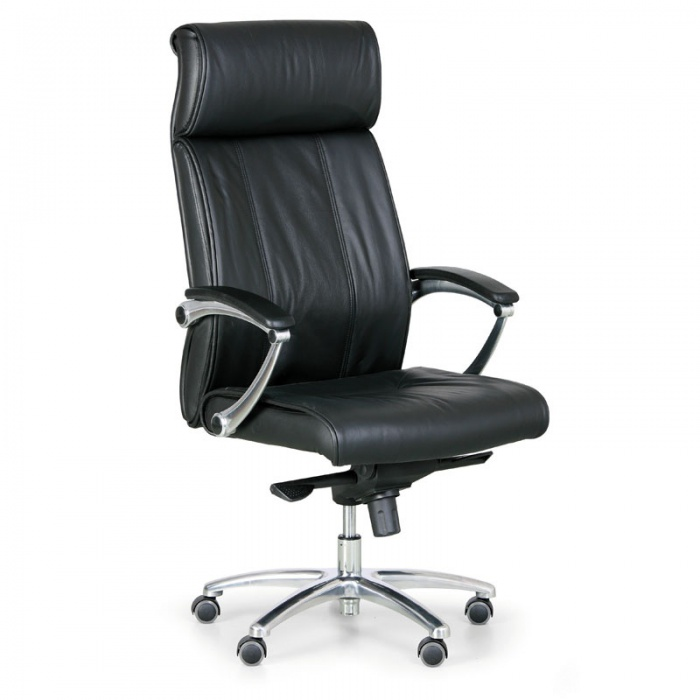 office armchair faux leather high back made in china black